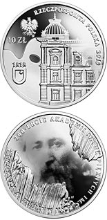 10 zloty coin 200th Anniversary of the Jan Matejko Academy of Fine Arts in Kraków | Poland 2019