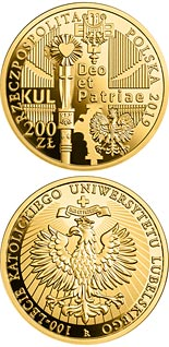200 zloty coin 100th Anniversary of the Catholic University of Lublin | Poland 2019