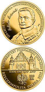 200 zloty coin 100th Anniversary of the University of Poznań | Poland 2019