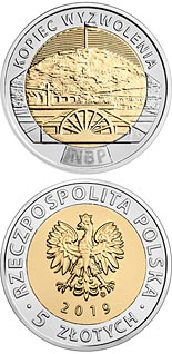 5 zloty coin The Liberation Mound  | Poland 2019