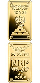 100 zloty coin The Return of Gold to Poland | Poland 2019
