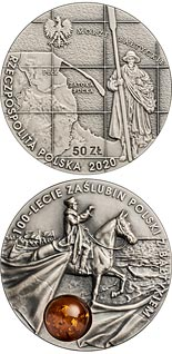 50 zloty coin 100th Anniversary of Poland's Wedding to the Baltic Sea | Poland 2020