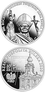 10 zloty coin 100th Anniversary of the Birth of Saint John Paul II | Poland 2020