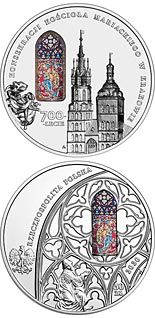 50 zloty coin 700th Anniversary of the Consecration of St. Mary's Basilica in Kraków | Poland 2020
