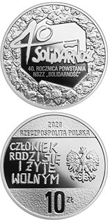 10 zloty coin 40th Anniversary of the Solidarity Trade Union | Poland 2020