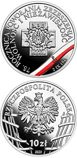 10 zloty coin 75th Anniversary of the Freedom and Independence Association | Poland 2020