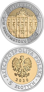 5 zloty coin The Branicki Palace in Białystok  | Poland 2020