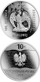 10 zloty coin 100th Anniversary of the March Constitution | Poland 2021