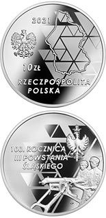 10 zloty coin 100th Anniversary of the 3rd Silesian Uprising  | Poland 2021