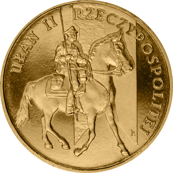 Image of 2 zloty coin – Uhlan of the Second Republic of Poland   | Poland 2011.  The Nordic gold (CuZnAl) coin is of UNC quality.