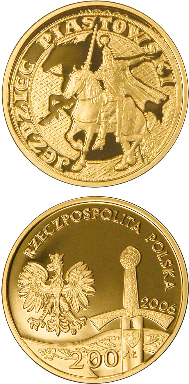 Image of a coin 200 zloty | Poland | The Piast Horseman | 2006