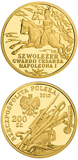 200 zloty Chevau-Légers of the Imperial Guard of Napoleon I - 2010 - Series: History of the Polish Cavalry  - Poland