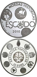 10 euro coin VIII Ibero-American Series - Historical Coins - The Escudo | Portugal 2010
