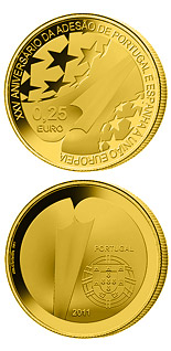 0.25 euro coin 25th Anniversary of the Accession of Spain and Portugal to the EU | Portugal 2011