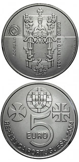 5 euro Monastery of Christ in Tomar - 2004 - Series: Commemorative 5 euro coins - Portugal