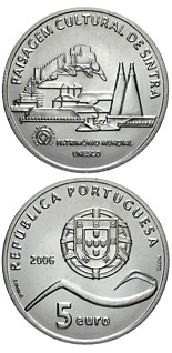 5 euro coin Cultural Landscape of Sintra | Portugal 2006