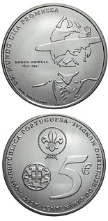5 euro coin 100 years boy scouts | Portugal 2007