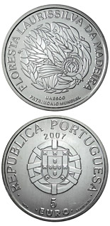 5 euro coin Laurisilva forests of Madeira  | Portugal 2007