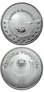 5 euro European Year of Equal Opportunities for All - 2007 - Series: Commemorative 5 euro coins - Portugal