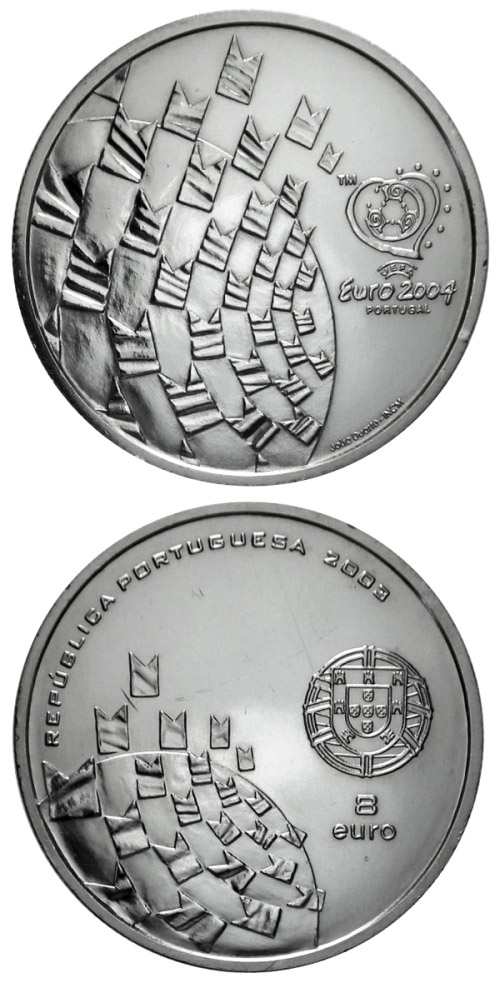 8 euro Football European Championship 2004 - Football is a celebration - 2003 - Series: Commemorative 8 euro coins - Portugal