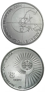 8 euro coin Enlargement of the European Union | Portugal 2004