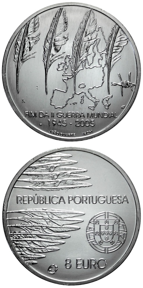 8 euro 60 years Peace and Freedom - 2005 - Series: European Silver Programme - Portugal