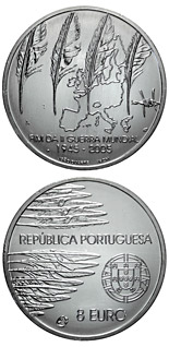 8 euro coin 60 years Peace and Freedom | Portugal 2005