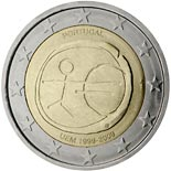 2 euro coin 10th Anniversary of the Introduction of the Euro | Portugal 2009