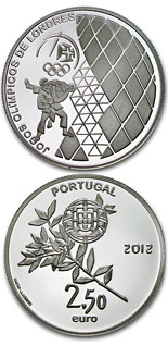 2.5 euro coin XXX. Summer Olympics in London | Portugal 2012