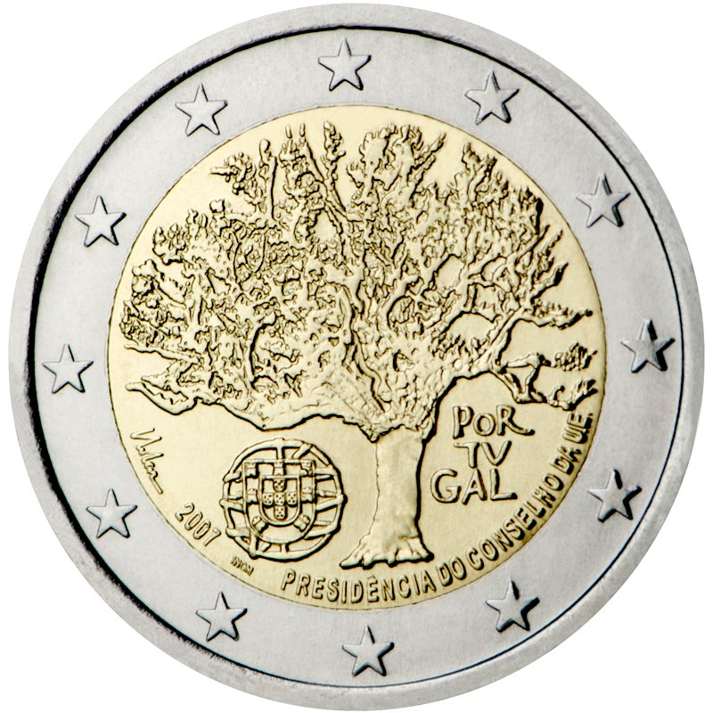 Image of 2 euro coin – Portuguese Presidency of the Council of the European Union | Portugal 2007