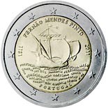 2 euro coin 500th annivesary of the birth of Fernão Mendes Pinto | Portugal 2011