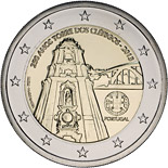 2 euro coin 250 Years of the Torre dos Clérigos | Portugal 2013