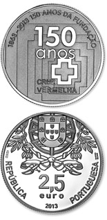 2.5 euro coin 150th Anniversary Of Red Cross | Portugal 2013