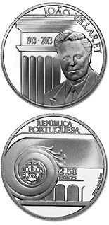 2.5 euro coin 100th Anniversary Of João Villaret | Portugal 2013