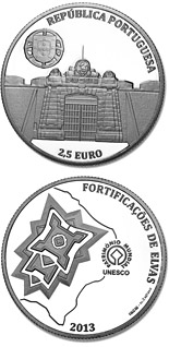 2.5 euro coin UNESCO World Heritage – Garrison Border Town Of Elvas And Its Fortifications | Portugal 2013