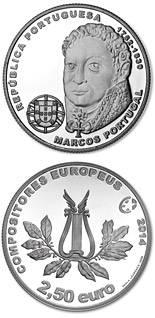 2.5 euro Marcos Portugal - 2014 - Series: Commemorative 2.5 euro coins - Portugal
