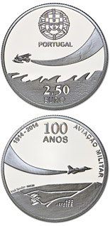 2.5 euro coin 100 Years Military Aviation | Portugal 2014