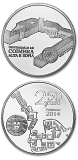 2.5 euro coin University of Coimbra – Alta and Sofia | Portugal 2014