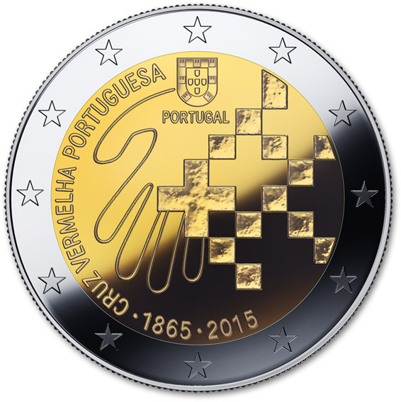 Image of 150 Years of Red Cross in Portugal – 2 euro coin Portugal 2015