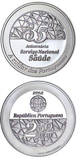 2.5 euro coin 35 Year Service Of National Health | Portugal 2014