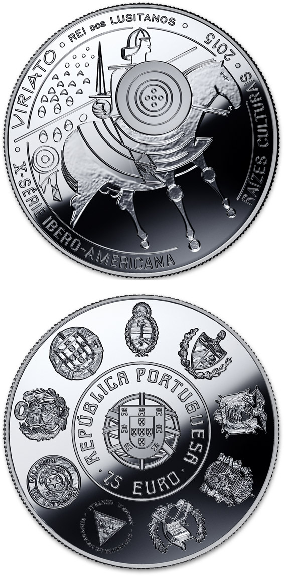 Image of 7.5 euro coin - Cultural Roots - Viriato  | Portugal 2015