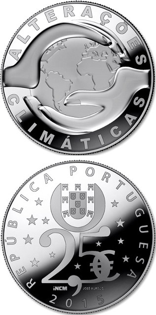 Image of a coin 2.5 euro | Portugal | The Climate Change | 2015