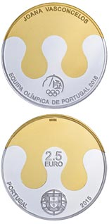 2.5 euro coin Olympic Games - Rio 2016 | Portugal 2015