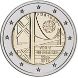 2 euro coin The Fifty Years of 25th April Bridge | Portugal 2016