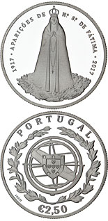 2.5 euro coin 100 Years of Fatima | Portugal 2017