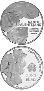 2.5 euro coin Pollyphonic Singing from Alentejo | Portugal 2016