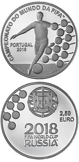 2.5 euro coin FIFA World Cup Russia 2018 | Portugal 2018