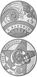 5 euro coin The Baroque Age | Portugal 2018