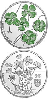 5 euro coin The Four Leaf Clover | Portugal 2018