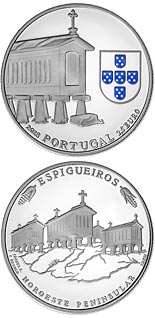 2.5 euro coin Granary Houses From Northwest Of Portugal | Portugal 2018